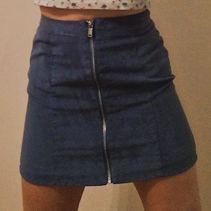 Blue H&M Zip Skirt